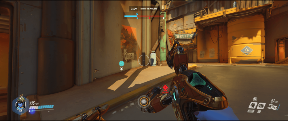 Symmetra Shield Generator spot Junkertown other spawn room range second point.png