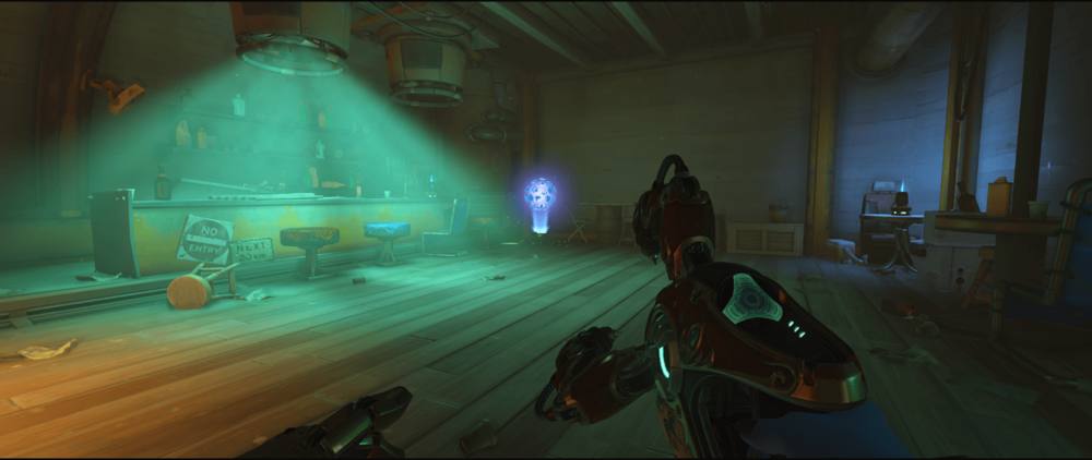 Symmetra Shield Generator spot Junkertown spawn room third point.png