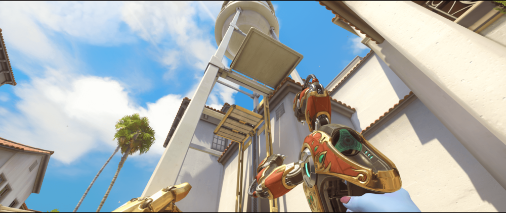 Symmetra shield generator spot Hollywood  elevator first point.png