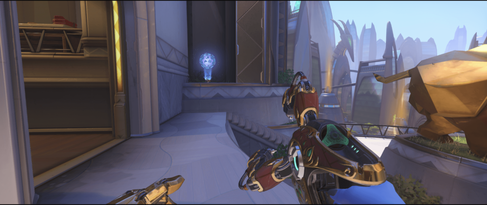 Symmetra shield generator spot Numbani main first point.png