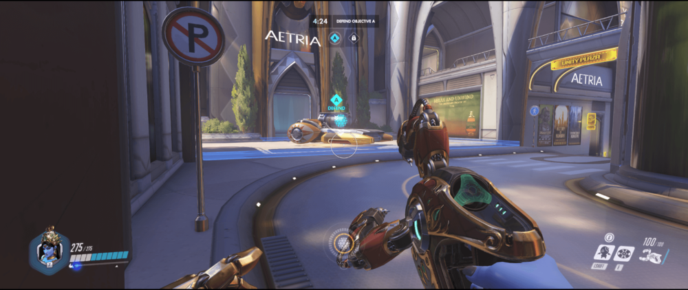 Symmetra shield generator spot Numbani main range first point.png