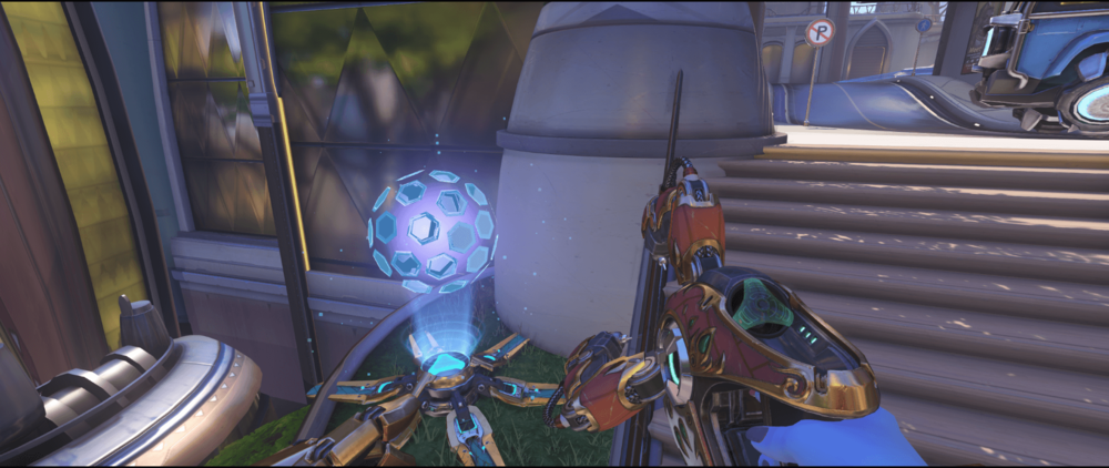 Symmetra shield generator spot Numbani secondary first point.png
