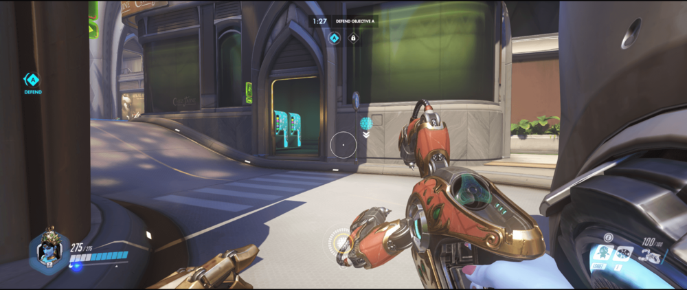 Symmetra shield generator spot Numbani secondary range 2 first point.png