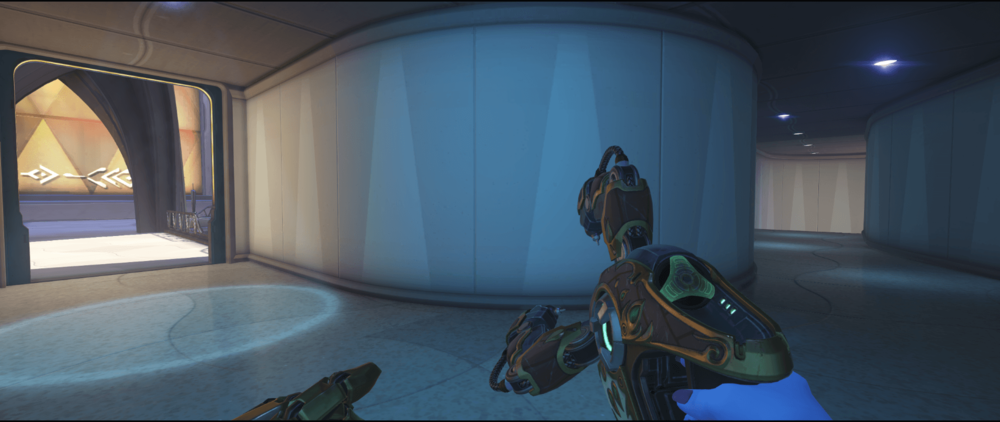 Symmetra shield generator spot Numbani high ground first point.png