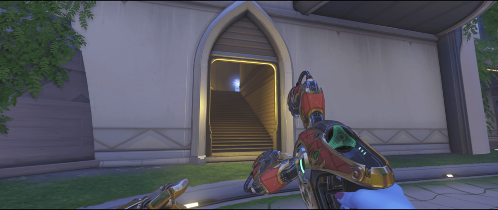 Symmetra shield generator spot Numbani main second point.png