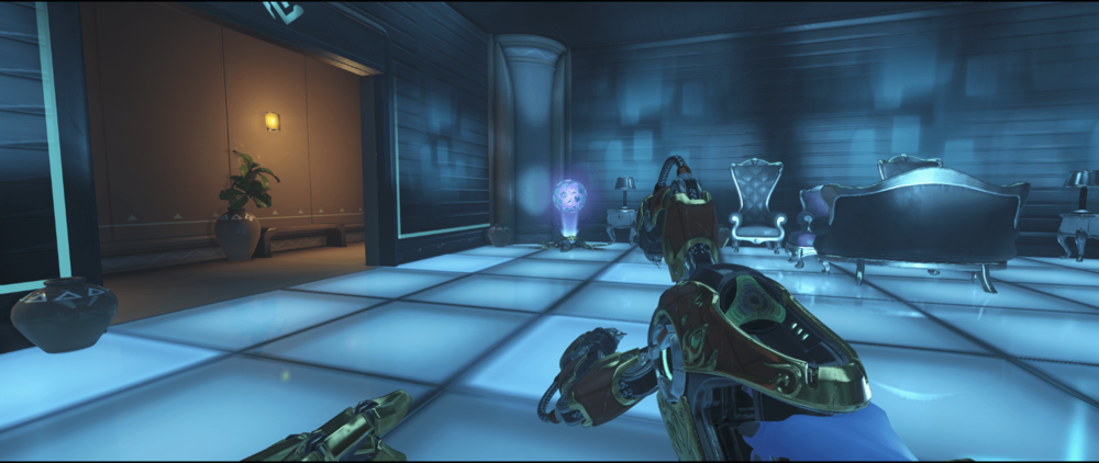 Symmetra shield generator spot Numbani blue room second point.png