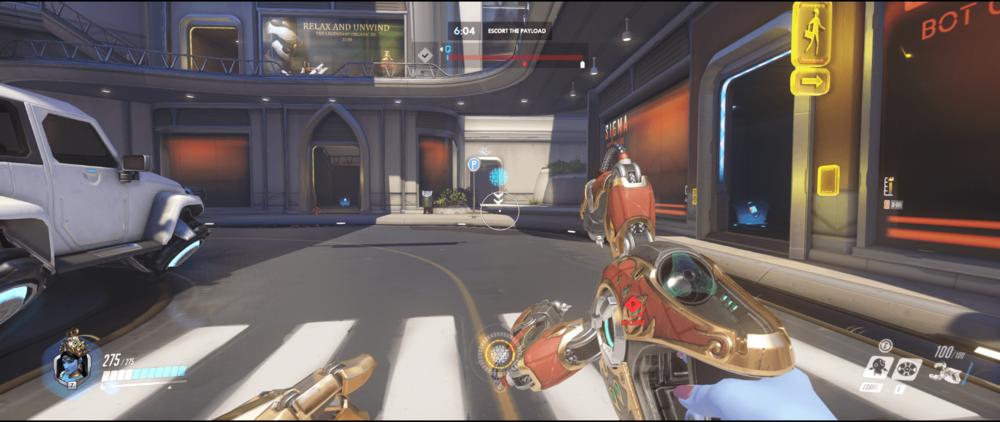 Symmetra shield generator spot Numbani blue room range second point.png