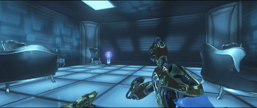 Symmetra shield generator spot Numbani blue room third point.png
