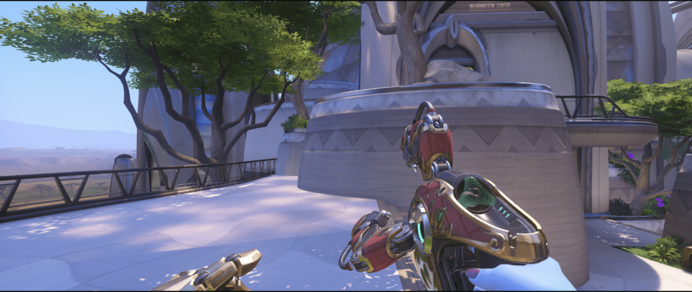 Symmetra shield generator spot Numbani main third point.png