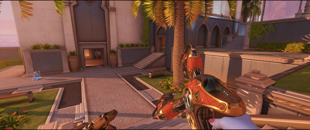 Symmetra Shield Generator spot Oasis City Gardens possible area.png