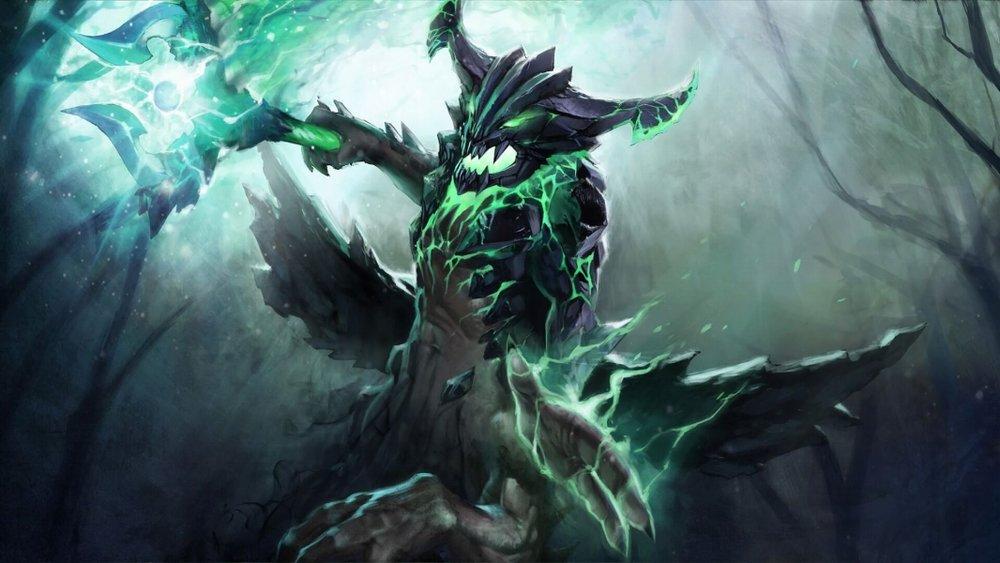 The Harbinger Comes loading screen for Outworld Devourer - Valve