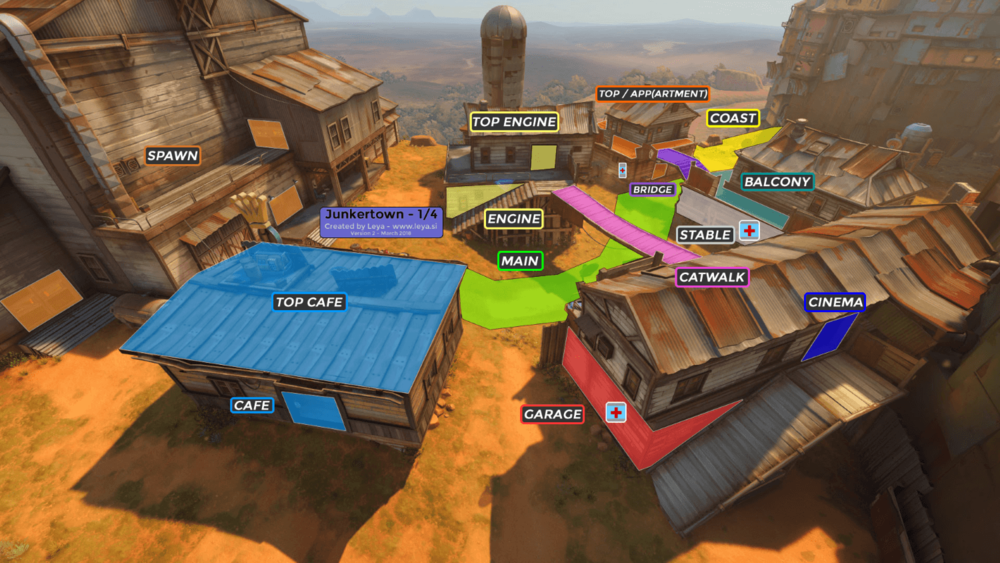 Junkertown map callouts Overwatch