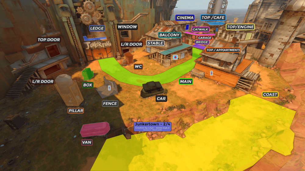 Junkertown map callouts two Overwatch