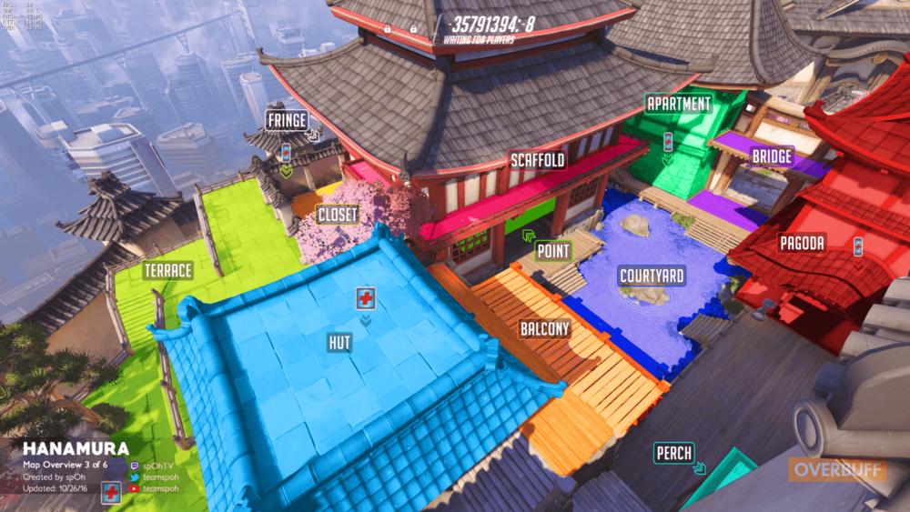 Hanamura map callouts three Overwatch