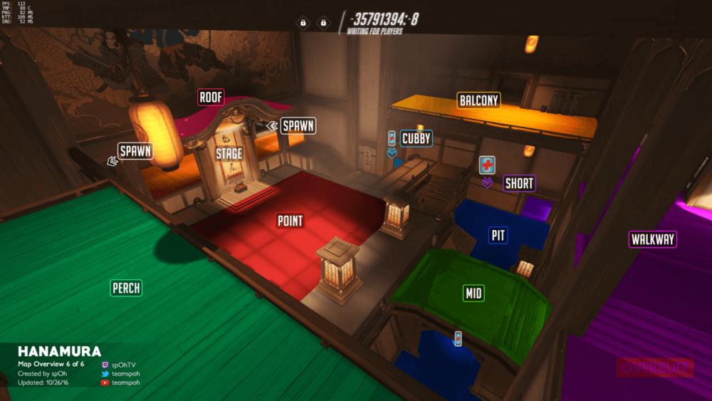 Hanamura map callouts six Overwatch