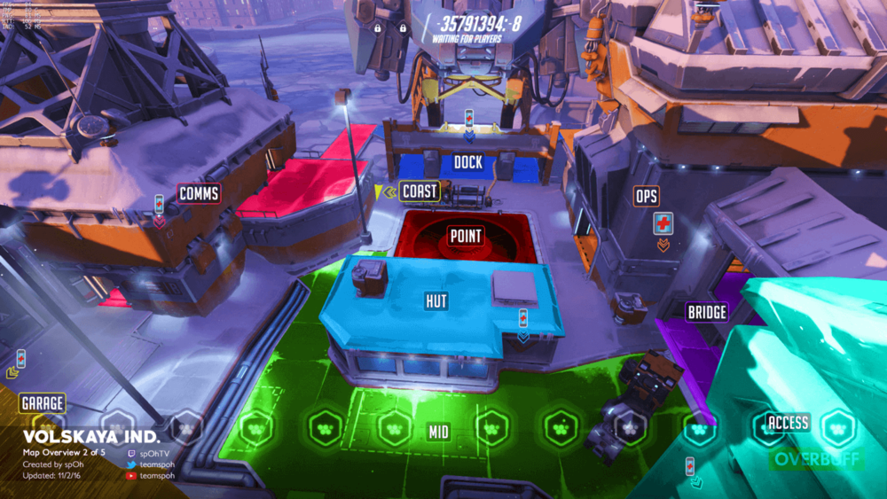 Volskaya Industries map callouts two Overwatch