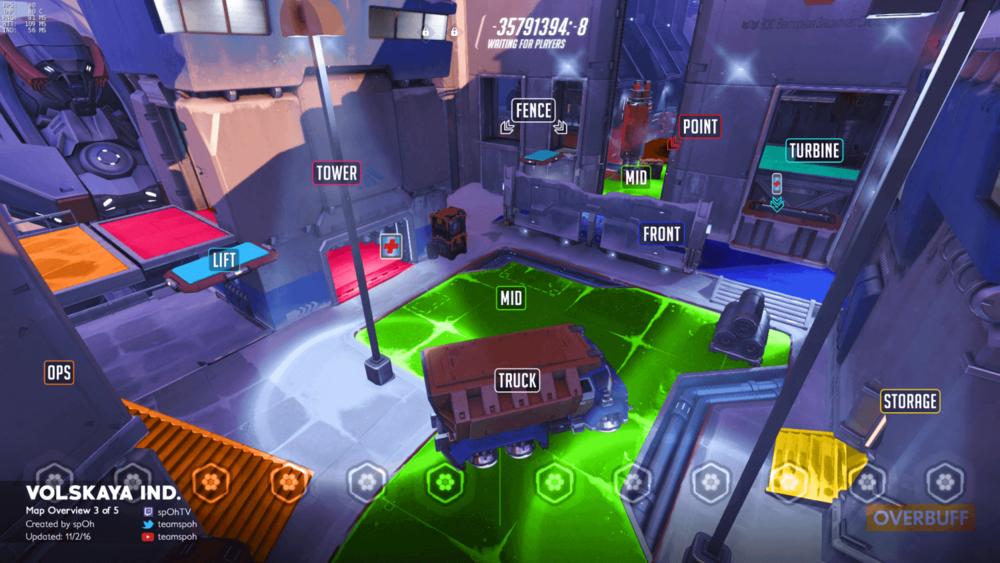 Volskaya Industries map callouts three Overwatch