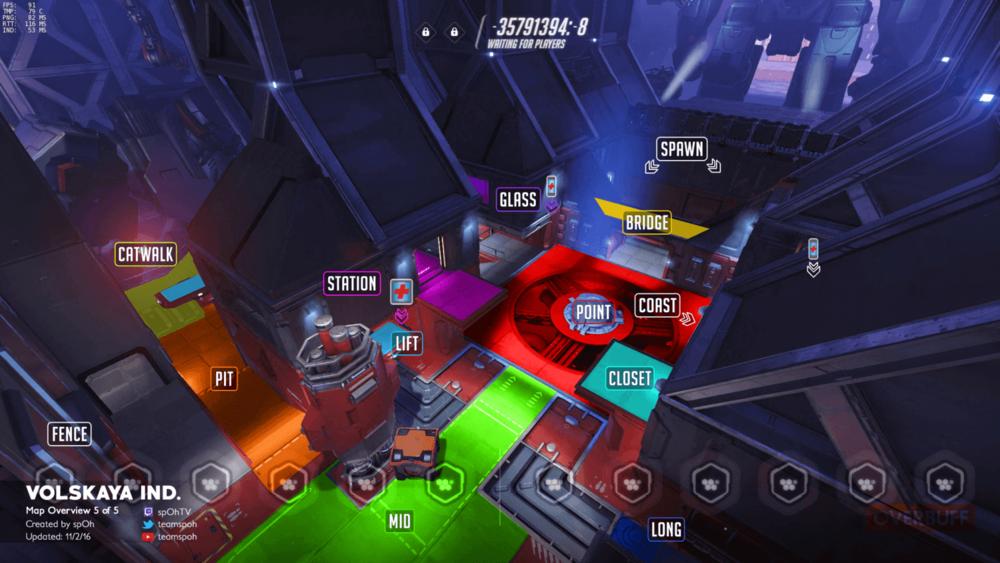Volskaya Industries map callouts five Overwatch