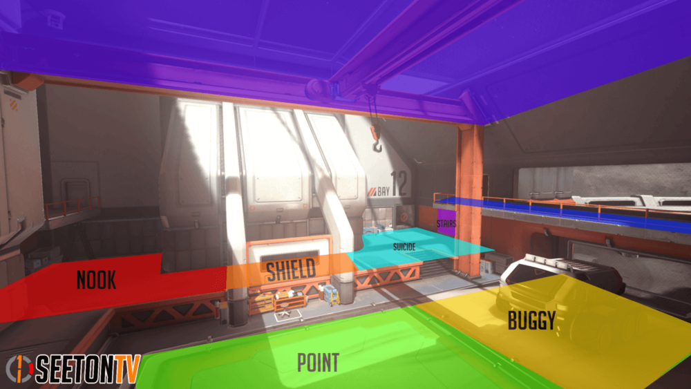 Horizon Lunar Colony map callouts eleven Overwatch