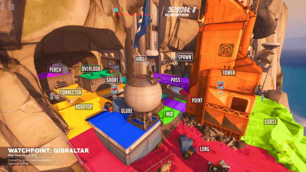 Watchpoint Gibraltar map callouts two Overwatch