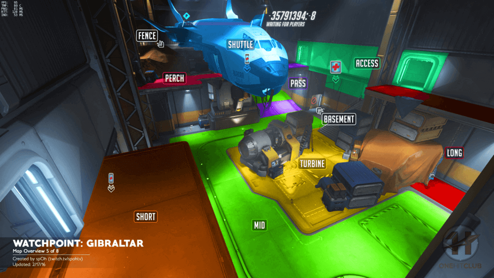 Watchpoint Gibraltar map callouts five Overwatch