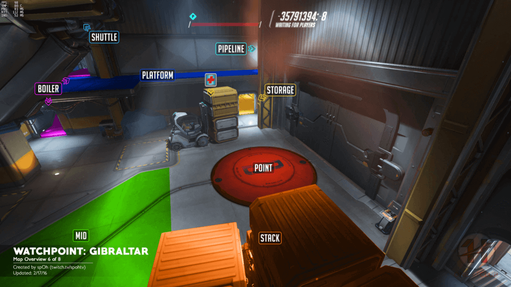 Watchpoint Gibraltar map callouts six Overwatch