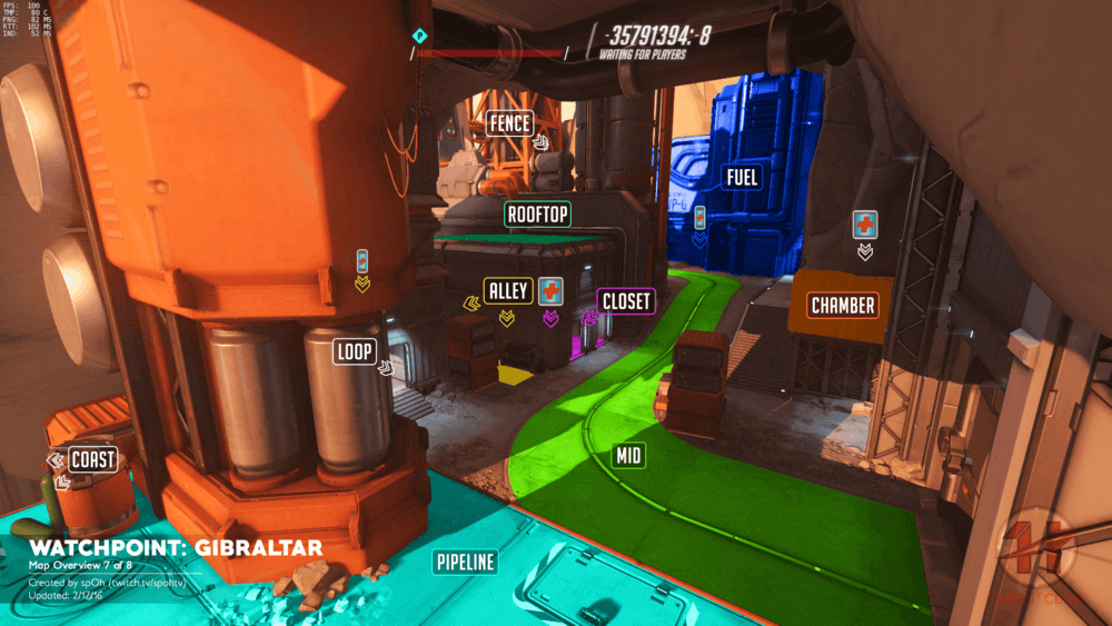 Watchpoint Gibraltar map callouts seven Overwatch