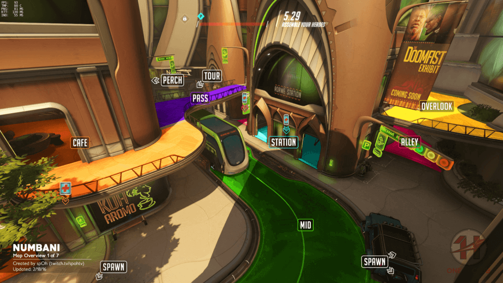Numbani map callouts one Overwatch