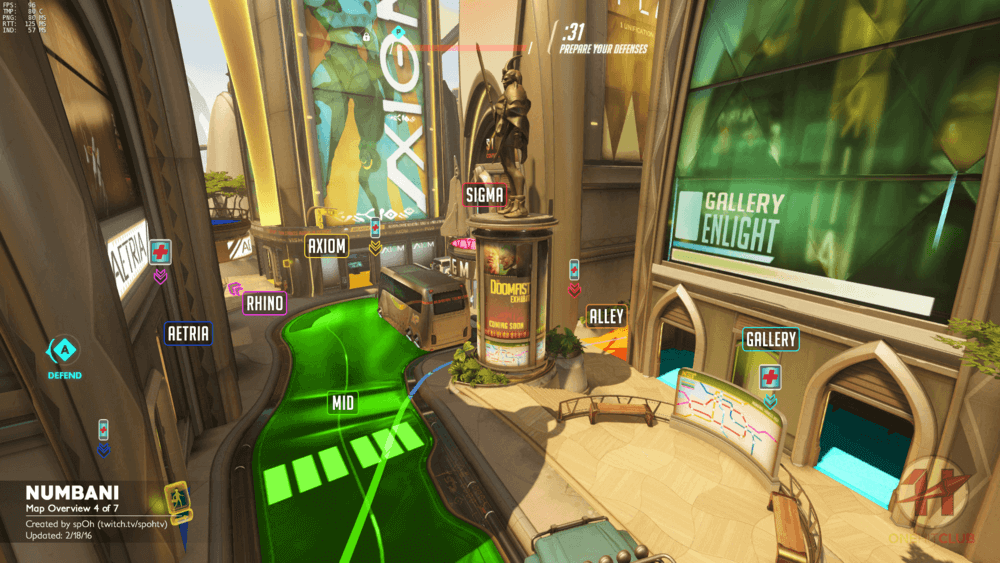 Numbani map callouts four Overwatch