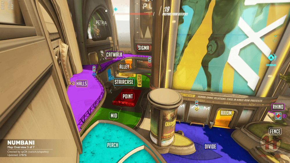 Numbani map callouts five Overwatch