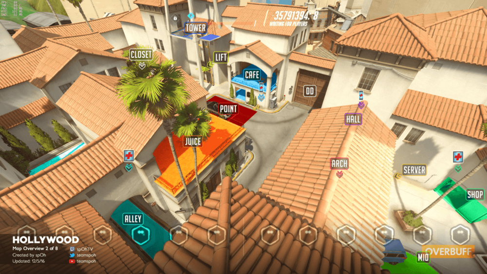 Hollywood map callouts two Overwatch