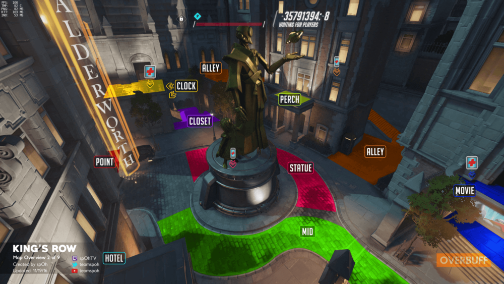 King's Row map callouts two Overwatch