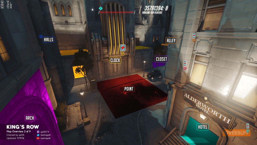 King's Row map callouts three Overwatch