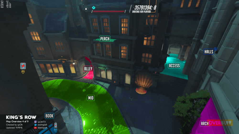 King's Row map callouts four Overwatch