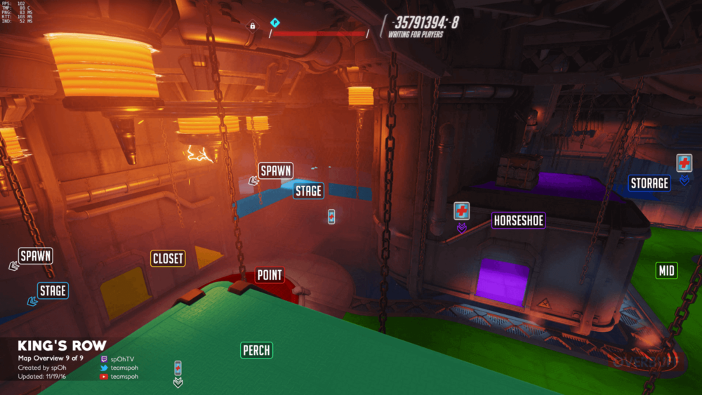 King's Row map callouts nine Overwatch