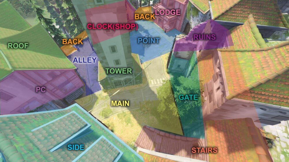 Eichenwalde map callouts two Overwatch