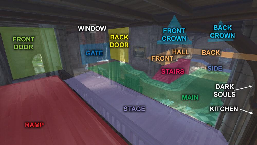 Eichenwalde map callouts five Overwatch