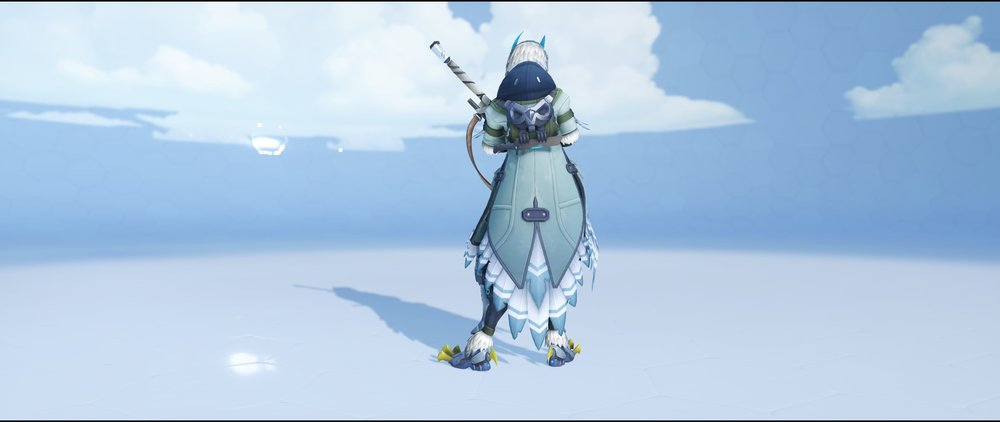 Snow Owl back legendary skin Ana Overwatch.jpg