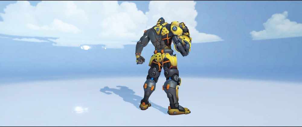 Caution back legendary skin Doomfist Overwatch.jpg