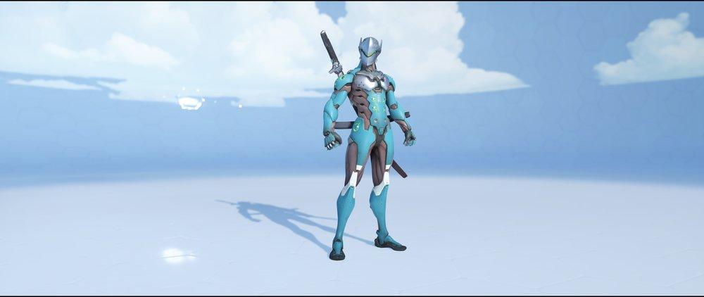Azurite front rare skin Genji Overwatch.jpg