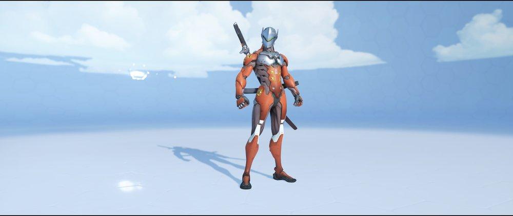 Cinnabar front rare skin Genji Overwatch.jpg