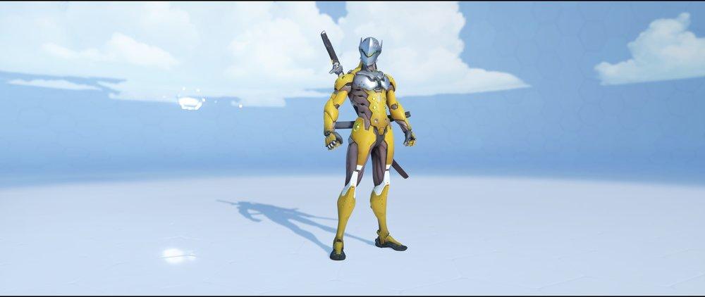 Ochre front rare skin Genji Overwatch.jpg