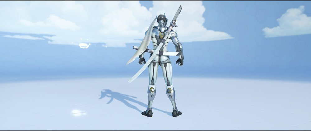 Chrome back epic skin Genji Overwatch.jpg