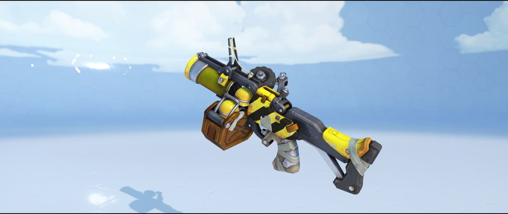 Caution grenade launcher epic skin Junkrat Overwatch.jpg