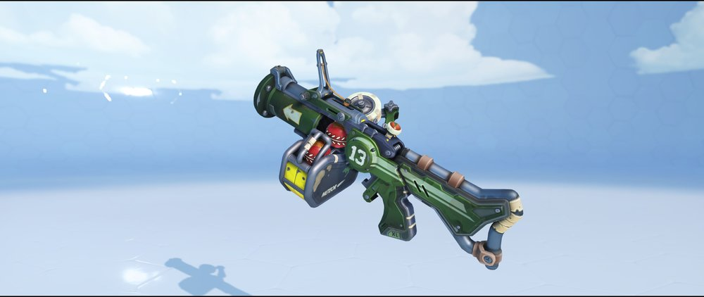Cricket grenade launcher legendary Summer Games skin Junkrat Overwatch.jpg