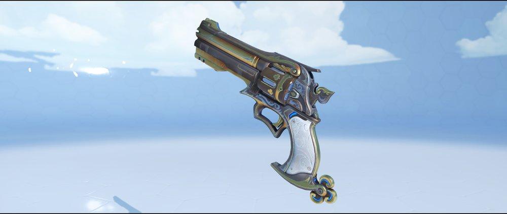 Gambler pistol legendary skin McCree Overwatch.jpg