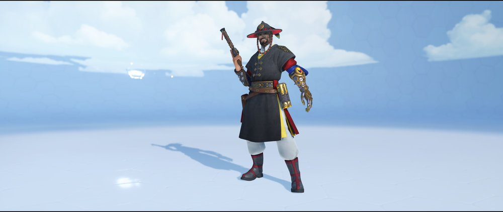 Magistrate front legendary skin Lunar New Year skin McCree Overwatch.jpg