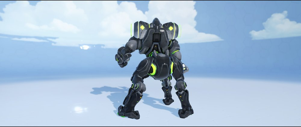 Carbon Fiber back legendary skin Orisa Overwatch.jpg