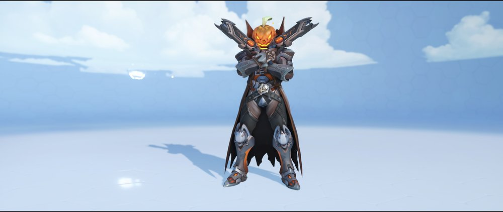 Pumpkin front legendary Halloween skin Reaper Overwatch.jpg