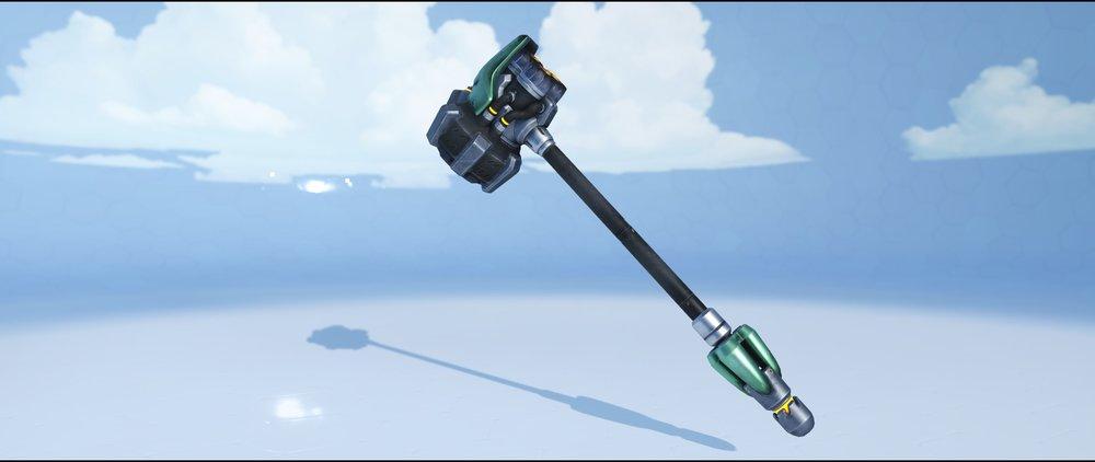 Viridian hammer front rare skin Reinhardt Overwatch.jpg